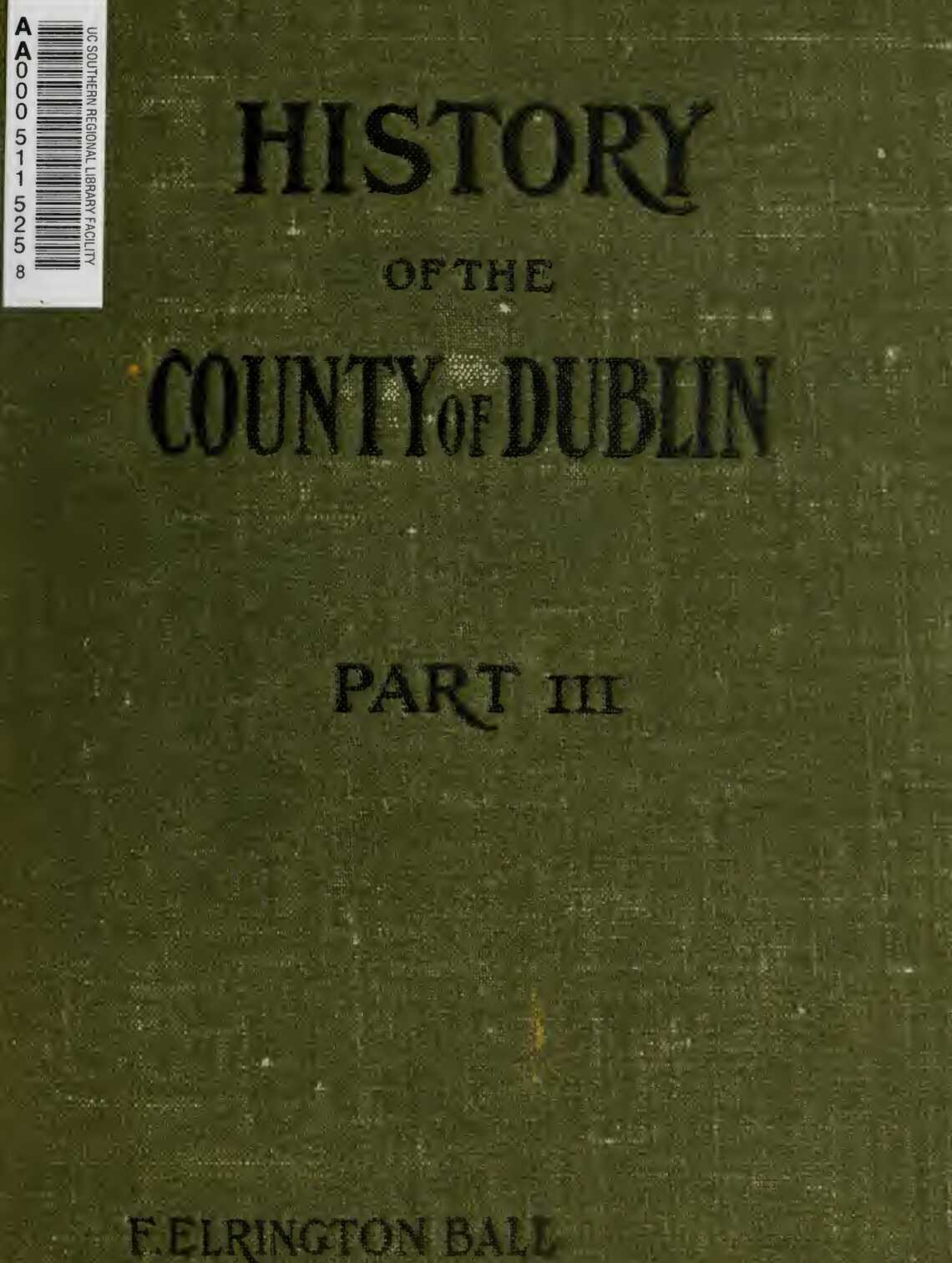 History of the County of Dublin
